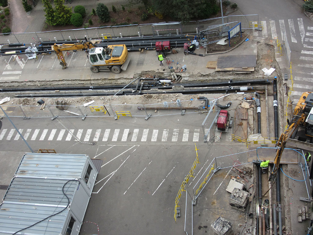 Sogeca Therm chauffage urbain Strasbourg chantier